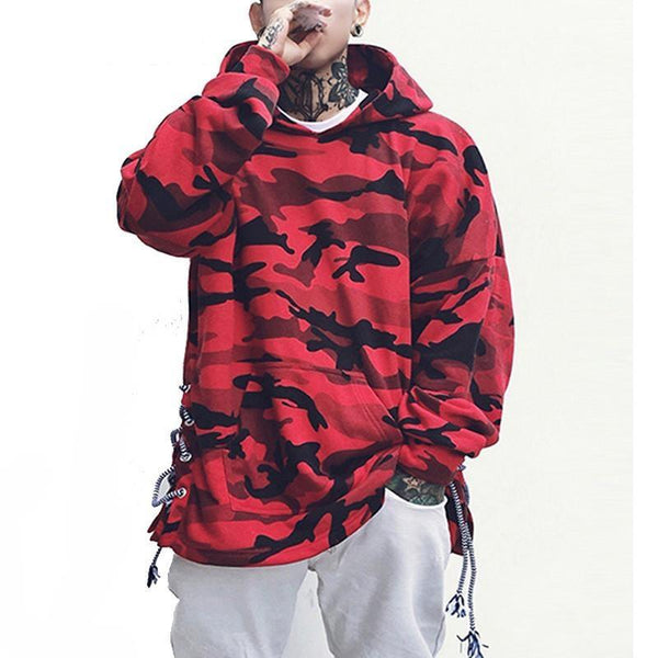 Blue & Red Camo Hoodie