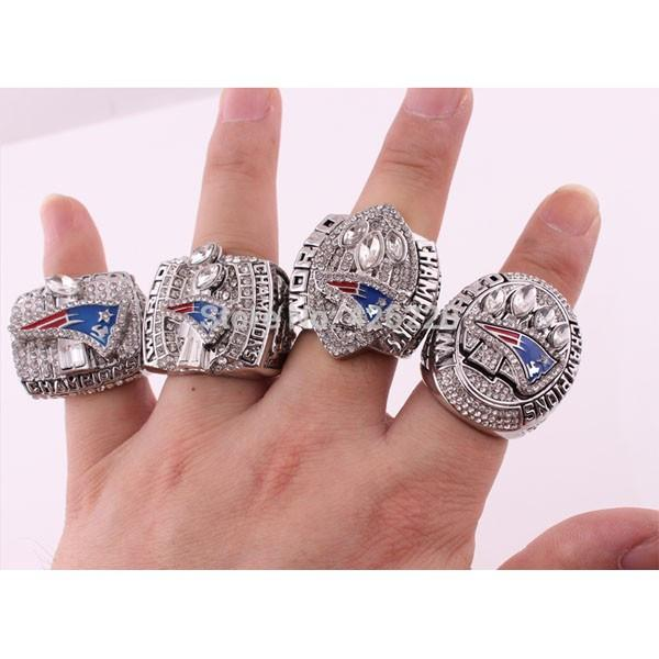 2001 2003 2004 2014 New England Patriots Championship 4 Ring Set