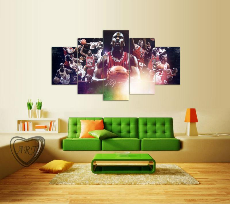 MICHAEL JORDAN 4PC Limited Edition Wall Canvas