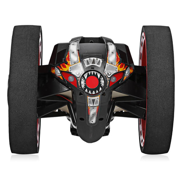 High Speed RC Car Bounce Jumping Cars PEG-81 Remote Control Toys Flexible Wheels Rotation Music LED Light Stunt Car Kids Toy