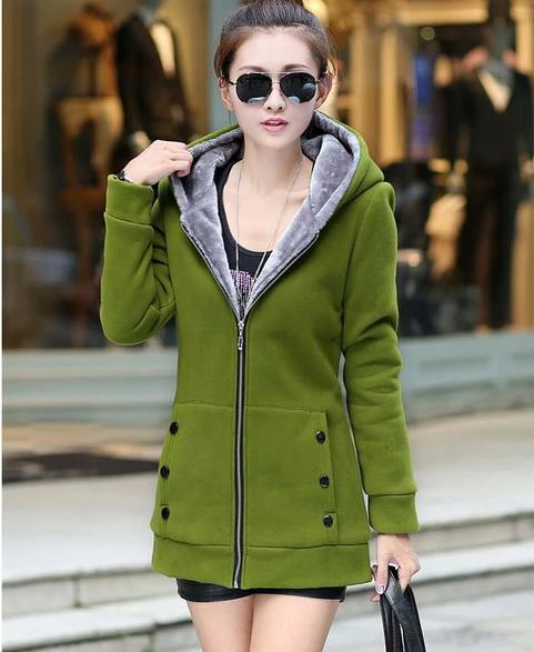 Hoodies Sweatshirts Slim / Plus Size Ladies Coats