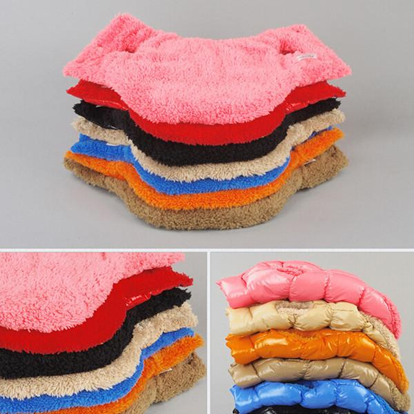 Hot Winter Dogs Pet Cat Padded Vest Coat Puppy Warm Down Fleece + Polyester Jackets
