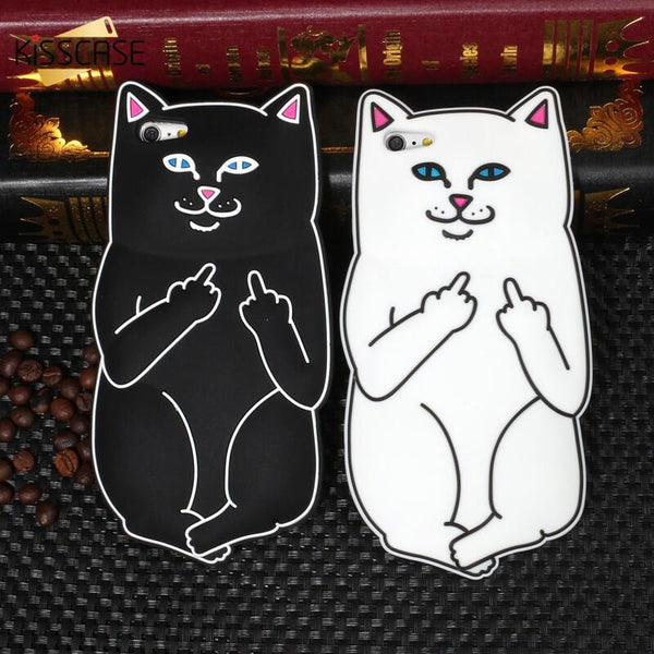 3D Cute Cartoon Cat Silicone Case
