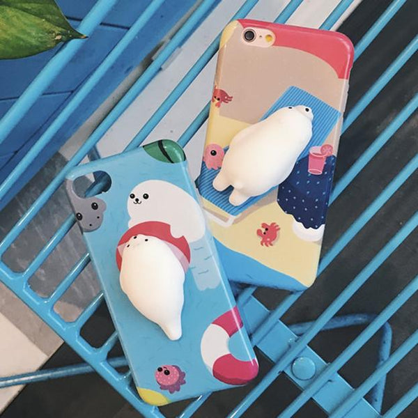Lovely 3D Animals Seal Sea Lion Phone Cases
