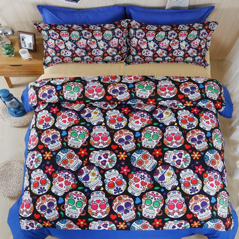 3D Skull Bedding Set
