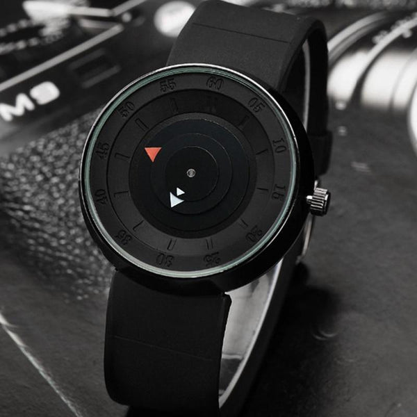 Waterproof Creative Rubber Strap Quartz Simple cool Wristwatches