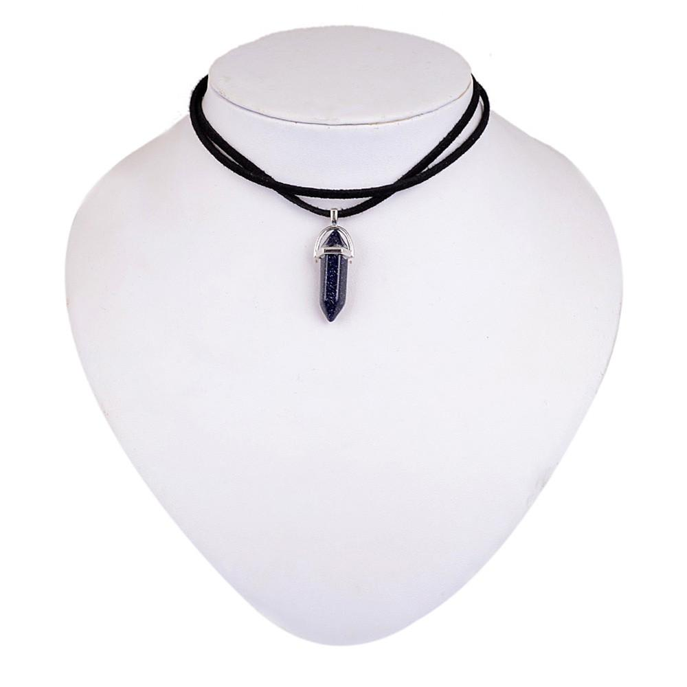 New style double layer black velvet chokers fashion punk geometric new style double layer black velvet chokers fashion punk geometric opal pendants necklaces for women aloadofball Image collections