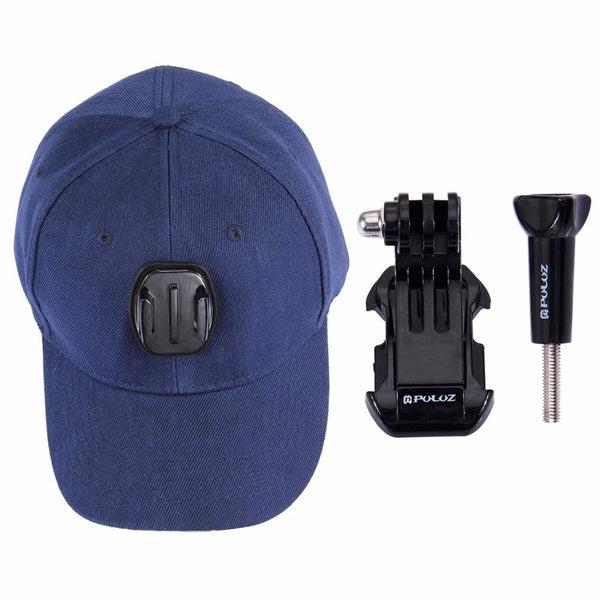PULUZ for Go Pro Accessories Canvas Baseball Hat Cap W/ J-Hook Buckle Mount Screw for GoPro HERO5 HERO4 Session HERO 5 4 3+ 3 2