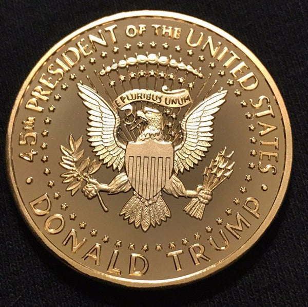 President Donald Trump Inaugural Golden EAGLE Commemorative Novelty Coin