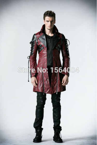 Punk Rave Gothic  Man-made Leather Jacket