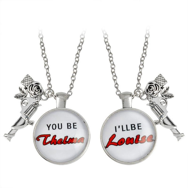 Rose Gun Pendant Thelma & Louise Necklace