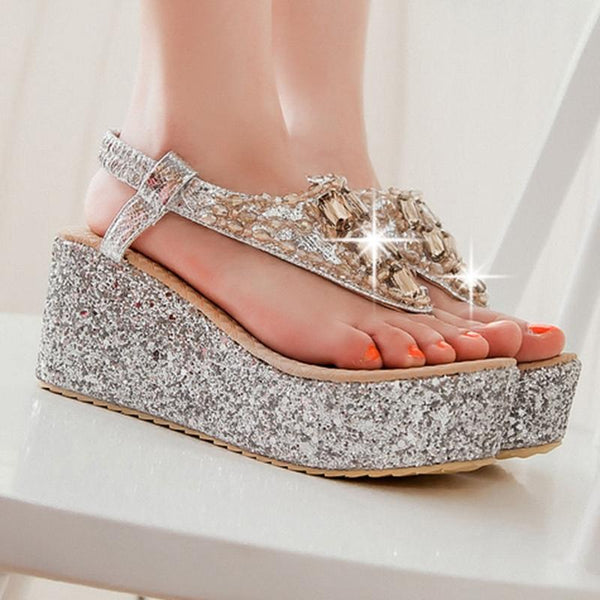 High Heel Rhinestone Sandals