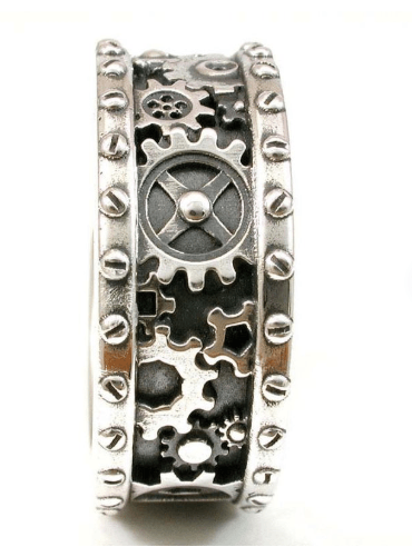Gears And Rivets Ring