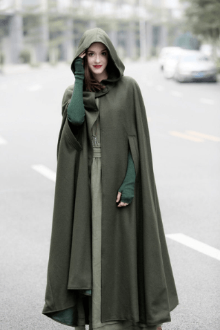 Maxi Cashmere Hooded Wool Coat