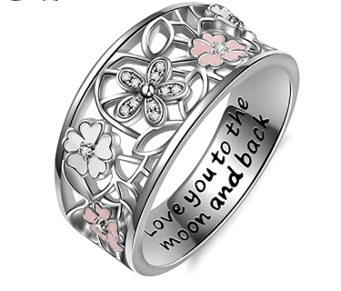 Flower Ring With Engrave