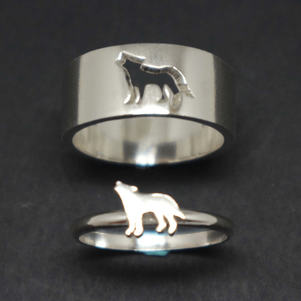 Couple Wolf Ring