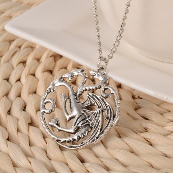 The Song Of Ice And Fire Game Of Thrones Daenerys Targaryen Dragon Badge Chain Necklace
