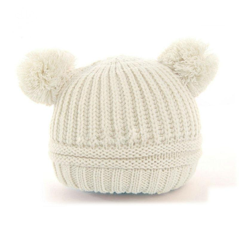 Dual Ball Knitted Baby Caps