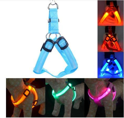 LED NYLON DOG HARNESS - FREE SHIPPING