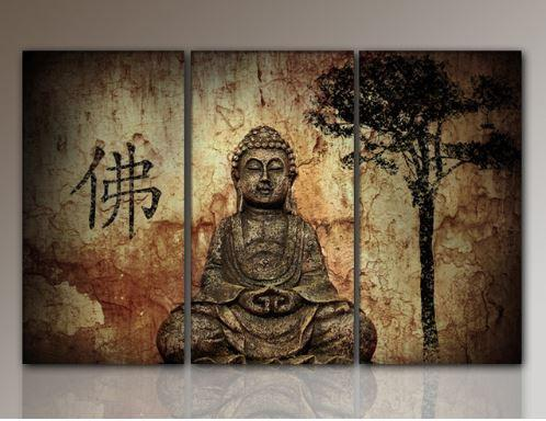 HD Buddha CANVAS PRINTS Modern 3 Panels Unframed Painting Home Decoration Living Room Bedroom Decor Wall Fine Art