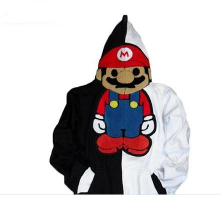 2017 Fashion Unisex Cute Super Mario Bro Cosplay Costume Hoodie Stylish Outwear Warm Funny Jacket lovers Coat S-XL 6 Style