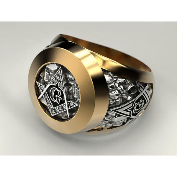 eejart Stainless Steel Masonic Ring for Men Freemason Symbol G Templar Freemasonry Rings