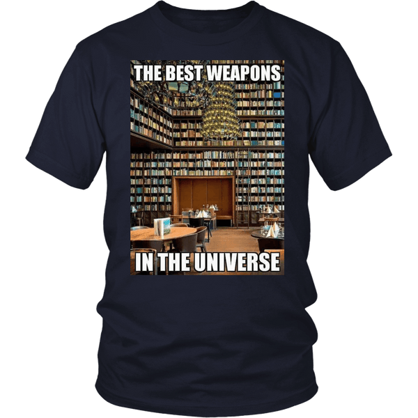 The Best Weapons In The Universe (Books) T - Shirt (60% OFF).
