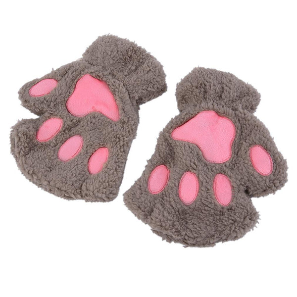 LOVELY CAT PLUSH PAW GLOVES