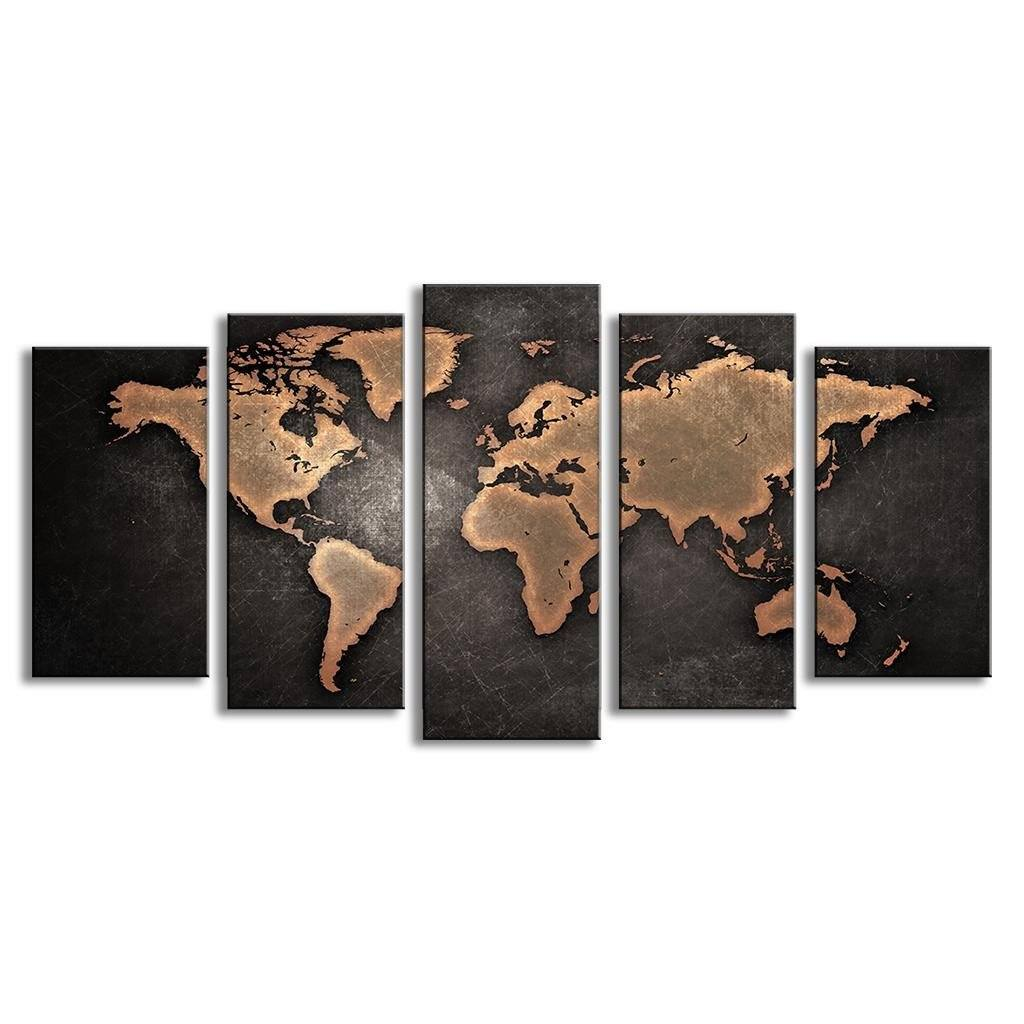 5 pcsset modern abstract wall art painting world map canvas 5 pcsset modern abstract wall art painting world map canvas painting for living room gumiabroncs Images