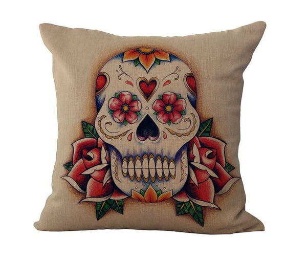 Sugar Skull (Day Of The Dead) Pillow Sheets