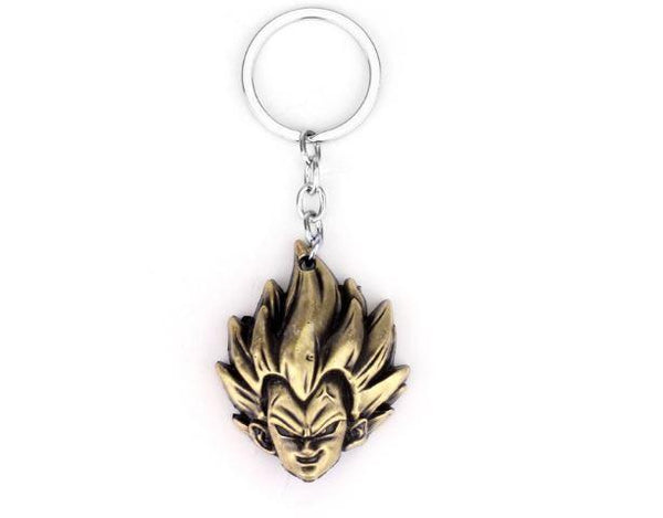 Anime Dragon Ball keychain Z Son Goku Saiyan 3D Metal Head Pendant dragonball Key Chain