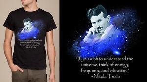 Nikola Tesla t-shirt, Inventor, Free Energy unique t-shirt, SCREEN PRINTED.