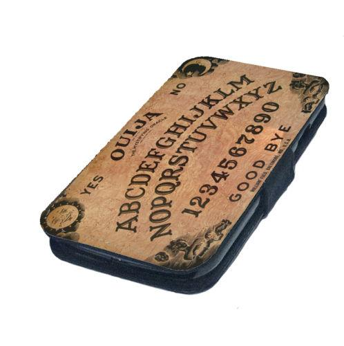 Ouija Board Printed Faux Leather Flip Phone Cover Case Goth Emo Metal