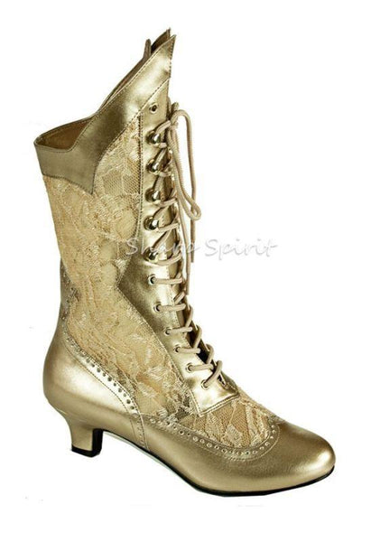 VICTORIAN STEAMPUNK VINTAGE STYLE POINTY TOE GRANNY BOHEMIAN GOTHIC WOMEN BOOTS