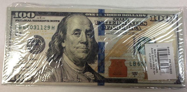 THE NEWEST HUNDRED 100 DOLLAR BILL WALLET BIFOLD ULTRA THIN CANVAS GIFT