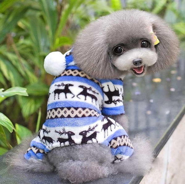 Pet Dog Puppy Cute Warm Winter Soft Sweater Hoodie Jumpsuit Coat Clothes Outwear