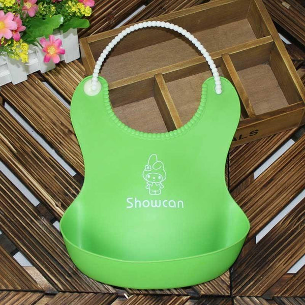 Lovely Baby Infants Kids Cute Silicone Bibs Baby Lunch Bibs Cute Waterproof