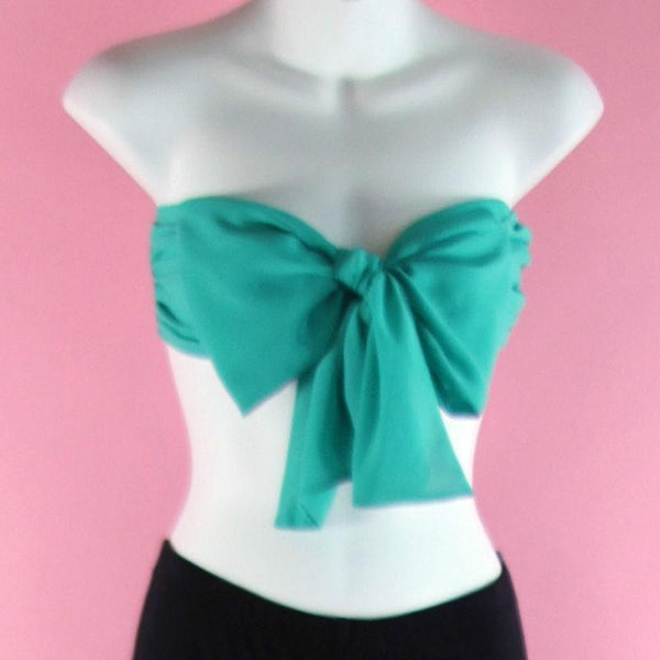 New Super Hot Sexy Cute Oversized Tube Top Bow Bandeau Strapless