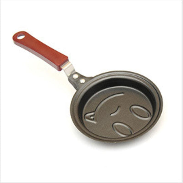 Mini Cartoon Egg Pan Outdoor Kitchen Non-stick Poacher Pot Mold Cookware Pancake