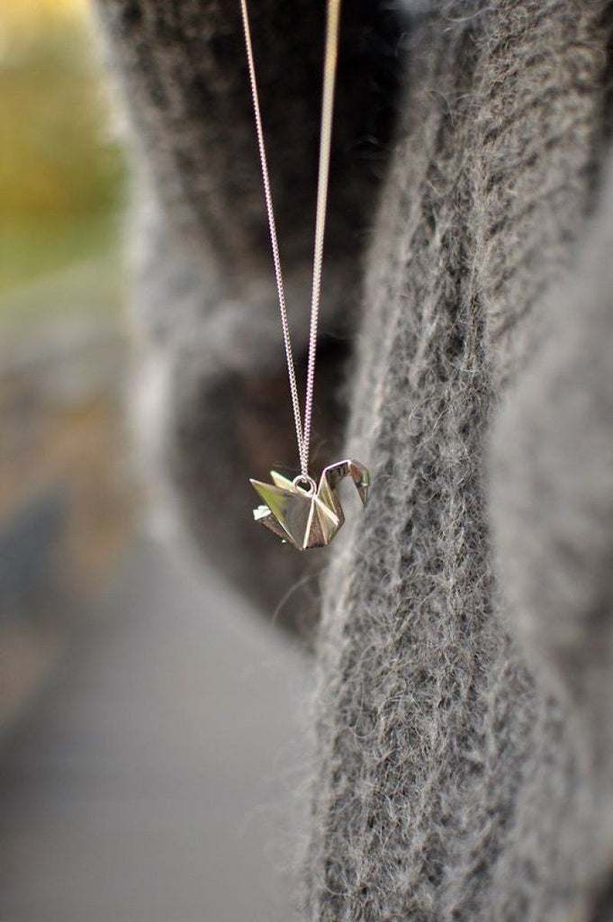 Origami Necklace.