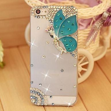 Rhinestone Case Cover For Iphone Butterfly