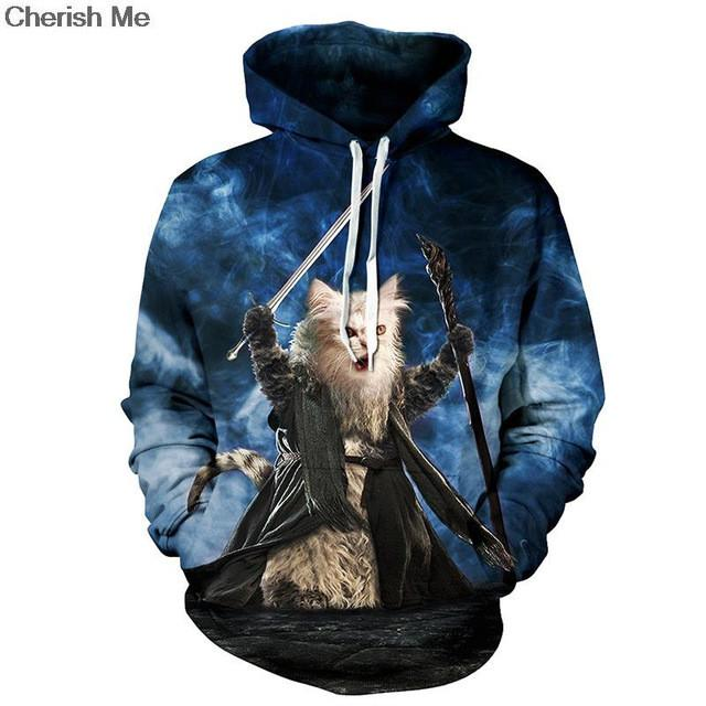 Unisex 3D Cat Warrior Sweatshirt