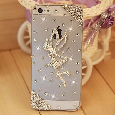 Rhinestone Case Cover For Iphone Fairy