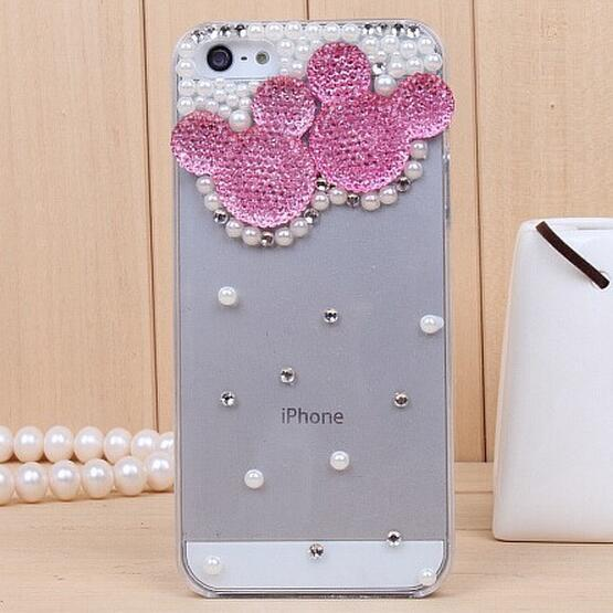 Rhinestone Case Cover For Iphone Mickey