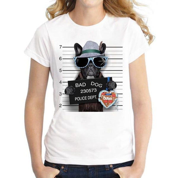 Dog Police Dept French Bulldog T-shirt