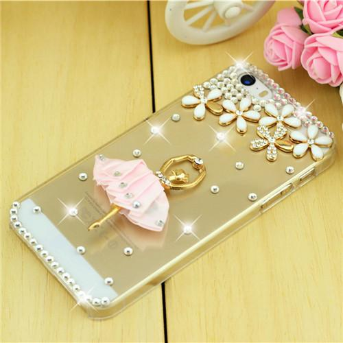 Rhinestone Case Cover For Iphone Floral Ballerina