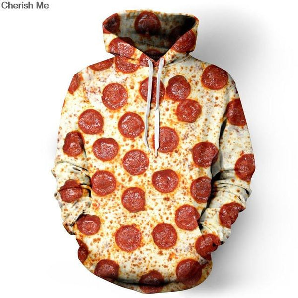 Unisex 3D Pizza Sweatshirt