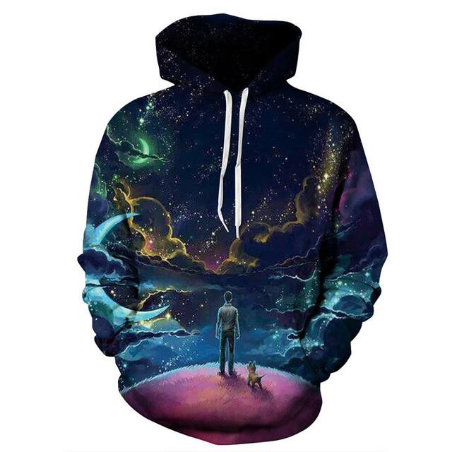Unisex 3D Moonlight Sweatshirt