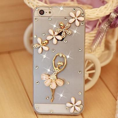 Rhinestone Case Cover For Iphone Ballerina