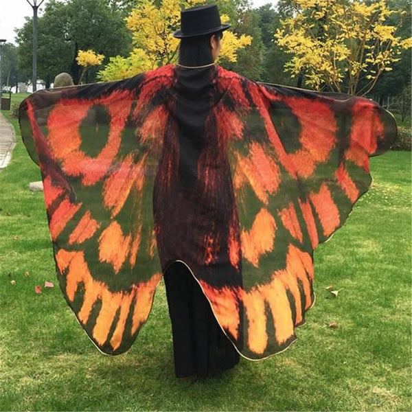Beautiful Butterfly Wing Cape & Scarf